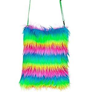WIDMANN 09817 - Bolso de mano para mujer, diseño de arcoíris, multicolor, talla única