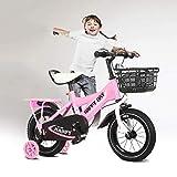 Vélo garçon lumineux pour garçon Vélo BoysAvec siège arrière, Équipé d'un...