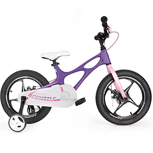 YJWOZ Kinder-Fahrrad, 14 Zoll 16 Zoll Männer und Frauen Baby Baby Wagen Fahrrad 3-6 Jahre alte Magnesium-Legierung Kinderfahrräder (Farbe : Lila, größe : 14 inch) -