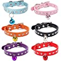 Small dogs and cats PU leather inlay diamond necklace small dogs and puppies collar (6 colors to choose)