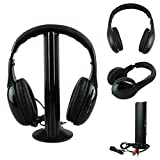 Bovake Wireless Headphone Casque Audio Sans Fil Ecouteur Hi-Fi Radio FM TV MP3 MP4