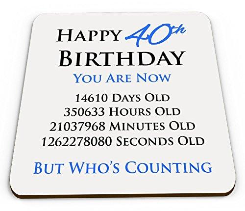 Happy 40th Birthday Funny, Glossy Coaster