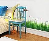 Ufengke Ufengke Série De Jardin Vert Herbes Vertes Stickers Muraux, Salle De Séjour Chambre À Coucher Plinthe Autocollants Amovibles