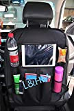 L&HM Auto Sedile Posteriore Organizzatore Multi Pocket-Borsa con Tasche a Rete, Raffreddare Borsa, Seggiolino Auto Tasca Storage con Touch Screen per iiPad / Tablet 9.7inch o 7.9 inch Dispenser Tessuti per SUV, Automobile o Camion Nero