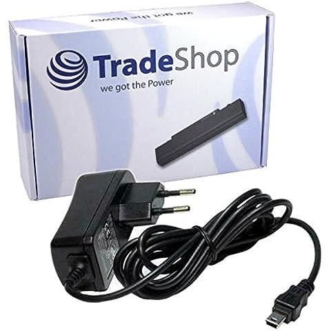 Trade-Shop - Fuente de alimentación y cargador para navegadores Garmin (compatible con modelos Garmin Nüvi 2495LMT, 2595, 2595LMT, 250-w, 265T, 265WT, 350-T)