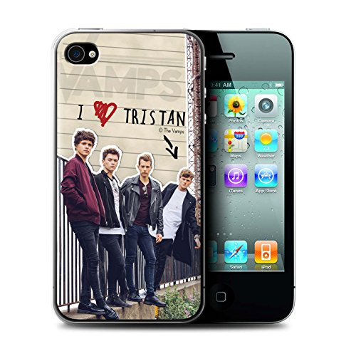 Offiziell The Vamps Hülle / Case für Apple iPhone 4/4S / Pack 5pcs Muster / The Vamps Geheimes Tagebuch Kollektion Tristan