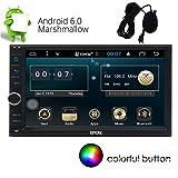 """Eincar 6.2"""" Android 6.0 Quad Core universale 2 Din Radio Auto Touch Screen con navigazione di GPS In Stereo dash di sostegno 1080P Video / Specchio-link / controllo del volante / NO-DVD / WiFi / 3G / 4G / FM AM RDS Radio / USB / SD / Bluetooth / OBD + microfono esterno"""