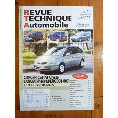 Rta-revue Techniques Automobiles - C8 Ulysse 2 Phedra 807 02- Revue Technique Citroen Fiat Lancia Peugeot par RTA