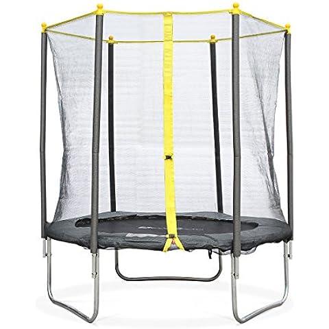 Alice's Garden - Cama elástica, Trampolin de 180 cm, altura de la red de seguridad 160 cm - NAOS