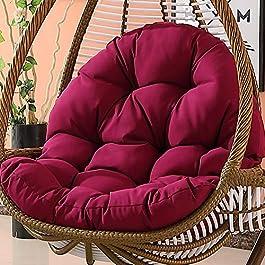LUNANA Swing Coussin Fauteuil Chaise de rotin Swing nid,Rond Antidérapant Coussin de siège balançoire Confortable…
