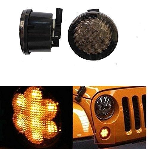 bestsxma Ersatz Front-Turn Signal Light LED Grill Light Smoked Lens Montage (1Paar) HL026