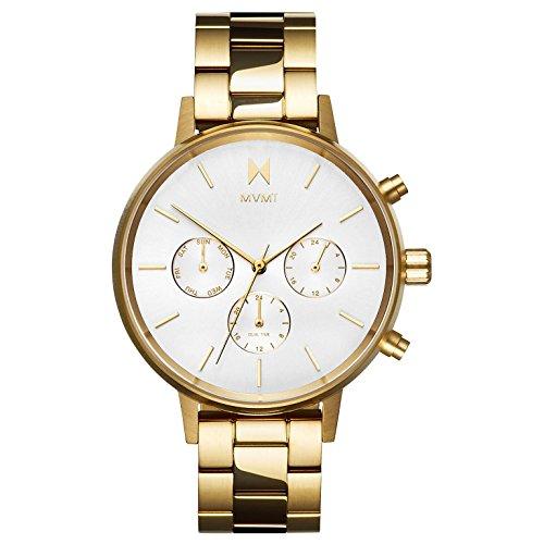 MVMT Damen Multi Zifferblatt Quarz Uhr mit Edelstahl Armband D-FC01-G
