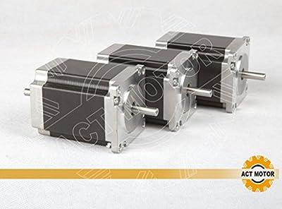 ACT Motor GmbH 3PCS Nema23 23HS8630B Schrittmotor 3.0A 76mm 1,45Nm CNC Fräsmaschinen Werkzeugmaschinen