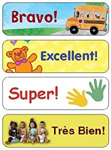 French reward stickers/labels for good behaviour, potty training, teacher's aid