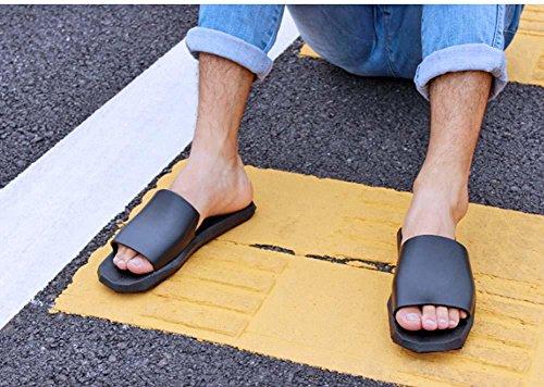 NobS Pistoni Di Estate Uomini Antisdrucciolevoli Inferiore Pantofole Punta Aperta Al Coperto E All'Aperto Coppie Bagno Privato Pantofole Femminile Black
