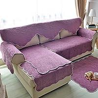 double-sided divano cuscini/American peluche doppio tre posti divano cuscini/ semplicità pastorale Sciarpa tinta Slipcover il divano-A 80x70cm(31x28inch)