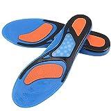 Silikon-Einlegesohlen für Running, Wanderschuheinsätze für Männer und Frauen Atmungsaktive und weiche Einlegesohlen size L (43-45)