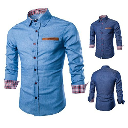 Grosses Soldes! Malloom Chemise Homme Manches Longues Occasionnels