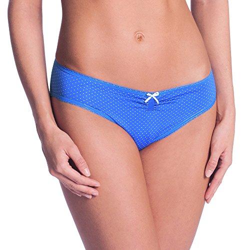 Anita Maternity Schwangerschafts-Slip, Pantalon de Pyjama pour Enceinte Femme Blau (ocean Blue 338)