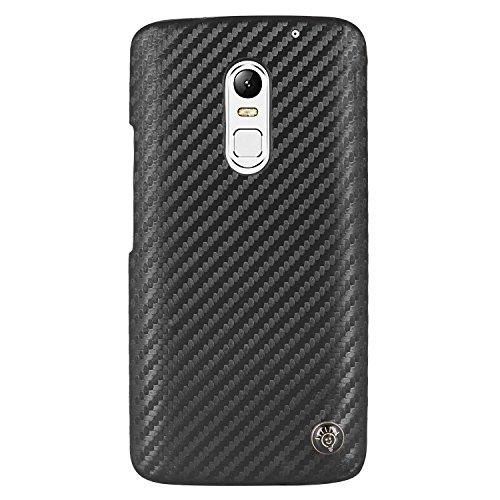 Parallel Universe Lenovo Vibe X3 Back Cover Case Carbon Fiber PU Leather Backcover - Black