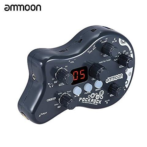 ammoon PockRock Guitar Effect Pedal Multi-effects Processor 5 effect modules