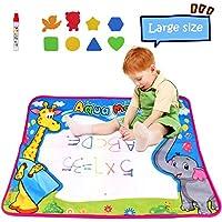 "Aqua Magic Mat, Large Water Doodle Drawing Mat Pad Colorful Painting Board Escritorios con 1 bolígrafos mágicos para niños Regalos educativos para juguetes, 27.5x20 """