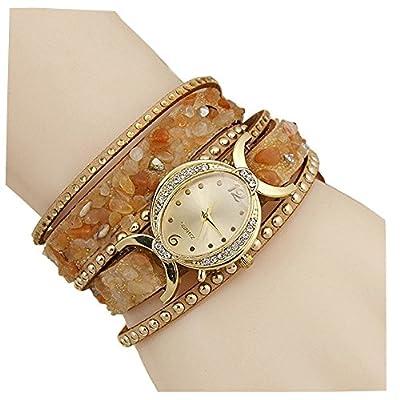 Aelo Stylish Bracelet Analogue Gold Dial Girls Watch - Www1051