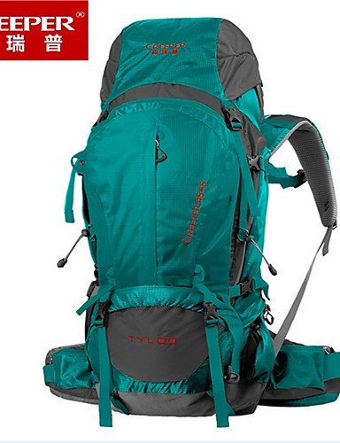 HWB/ 50L L Tourenrucksäcke/Rucksack / Wandern Tagesrucksäcke / Rucksack Camping & Wandern / Klettern / Reisen DraußenWasserdicht / Forest Green