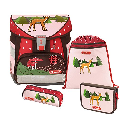 Preisvergleich Produktbild Step by Step Light Schulranzen-Set 4-tlg. Lovely Deer lovely deer