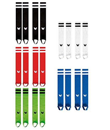 Erima Stutzen Stegstutzen Streifenstutzen für Kinder Junioren Erwachsene verschiedene Farben, Grösse:37 - 40;Farben:Rot