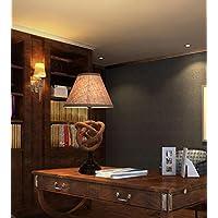 FWEF panno pulsante stile Country Bar moderno personalità semplice soggiorno studio retrò personalità camera da letto canapa lampada da tavolo 35 * 70cm