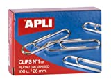 APLI 11713 - Clips galvanizados nº1œ 26 mm 100 u.