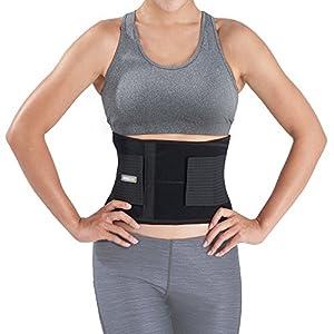 Bracoo BS31 Rückenbandage – Rückengurt – Rückenstützgürtel mit Stabilisierungsstäben – Ultra-leichtes Design – Rückengürtel für Damen und Herren