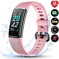 LETSCOM High-End Fitness Trackers HR, IP68 Waterproof Fitness Watch with Heart Rate Monitor, Step Counter, Sleep...
