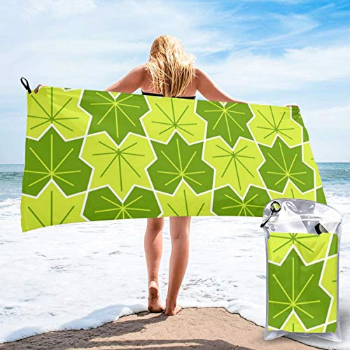 Maple Leaf Dish (Fun Life Art Fast Quick Dry Towel,Sports & Beach Towel.00748149 Maple Leaf 2 Spring Summer Suitable for Camping, Gym, Yoga,Swimming,Travel,Hiking,Backpacking.)