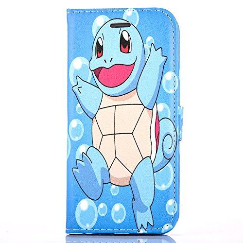 """iPhone 6/6s Pokemon Étui en Cuir PU Portefeuille / Étui avec Sangle Magnétique pour Apple iPhone 6s 6 (4.7"""") / Protecteur D'écran et Chiffon / iCHOOSE / Charmander Squirtle"""