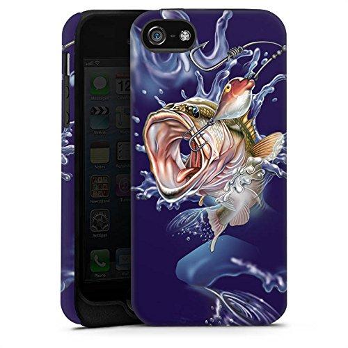Apple iPhone 4 Housse Étui Silicone Coque Protection Poisson Pêche Fête des pères Cas Tough terne