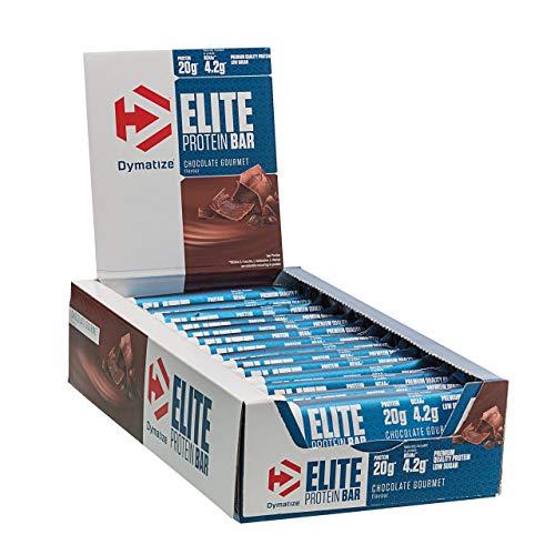 Dymatize Elite Protein Riegel - Premium Eiweiß-Riegel, Fitness-Riegel mit Casein und Whey / 15 x 70 g Chocolate Gourmet
