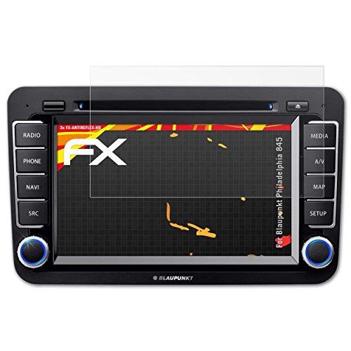 atFoliX Schutzfolie kompatibel mit Blaupunkt Philadelphia 845 Bildschirmschutzfolie, HD-Entspiegelung FX Folie (3X)