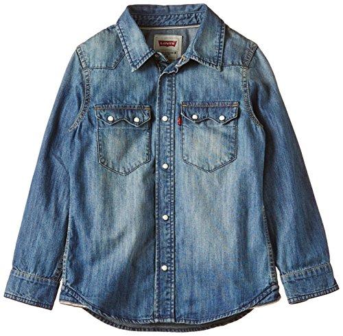 Levi's Kids Jungen Levi's Shirt Hemd, Blau (Indigo 46), 164 (Herstellergröße: 14A)