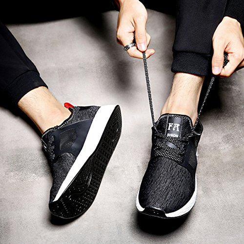SITAILE Uomo Scarpe da Corsa Basse Sneaker Scarpe da Ginnastica Sportive Fitness Running all'Aperto Nero