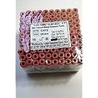Tubos de recogida de muestras sin vacío de 4 ml, 12 x 75 mm, 100 tubos, color rojo