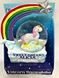 "Royal County, Schneekugel mit Einhorn, ""Sweet Dreams"", personalisierbar, Alicia"