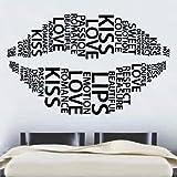 Labios en palabras de vinilo adhesivo de pared Arte Casa Refranes Populares 60cm x 97cm)