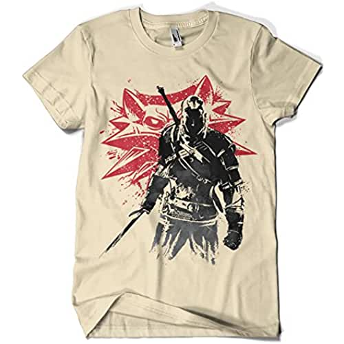 dia del orgullo friki 1069-Camiseta The Witcher Sumie v2 (Dr.Monekers)