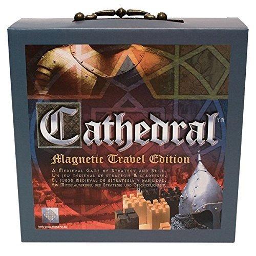 Family Games Cathedral - Juego de Mesa de Estrategia de Viaje portátil de Madera