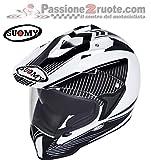 Suomy KSME0001.4 Casco Moto, Bianco/Nero, M