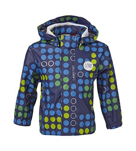 LEGO Wear Baby - Jungen Regenbekleidung LEGO duplo Regenjacke JOSH 207 gepunktet, Gr. 86, Blau (588 MIDNIGHT BLUE)