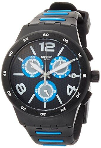 Swatch Orologio Cronografo Quarzo Uomo con Cinturino in Silicone SUSB410