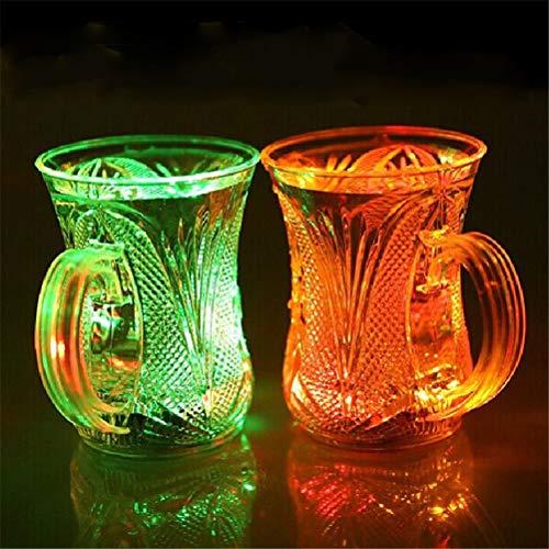 her Flüssigkeitssensor Multi-Color Flashing Light Up Drink Cup Bier Becher Weingläser Bar Hochzeit Clubs Parteien Dekoration, 4 St ()